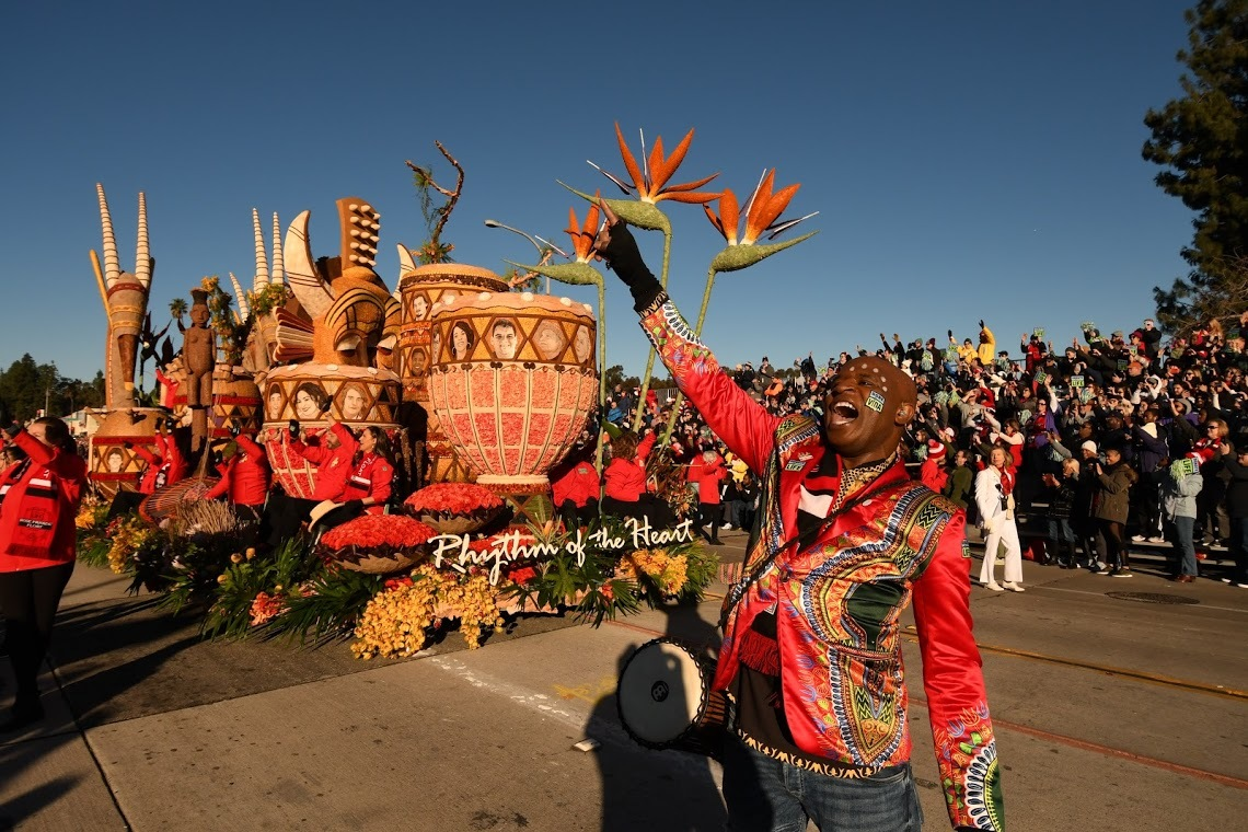 The Donate Life float in the Rose Bowl Parade.