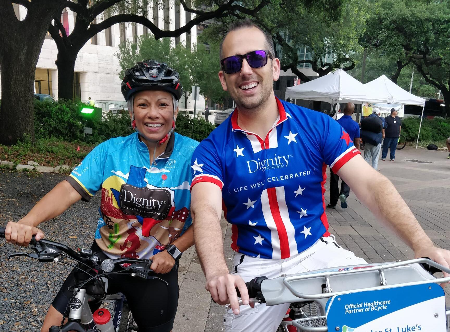 Two SCI employees ride to support the American Diabetes Association.