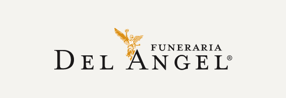 Funeraria Del Angel logo with gray background
