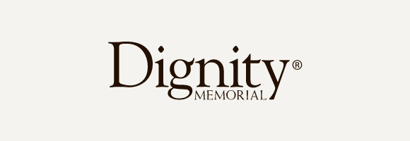 Dignity Memorial logo with gray background