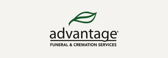 Advantage logo with gray background