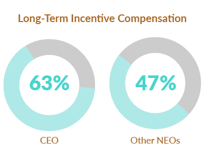 Proxy 2020: Long-Term Incentive Compensation chart