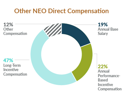 Proxy 2020: Other NEO Direct Compensation chart
